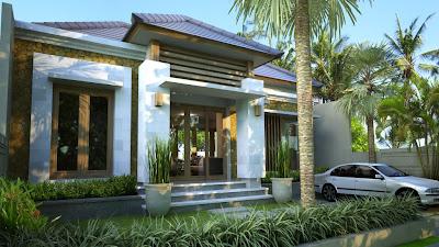 desain villa, bangun rumah, type 85, interior, minimalis