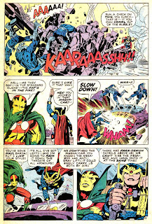 Mister Miracle v1 #7 dc 1970s bronze age comic book page art by Jack Kirby