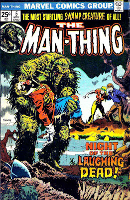Man-Thing v1 #5 marvel 1970s bronze age comic book cover art by Mike Ploog