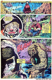 Man-Thing v1 #5 marvel 1970s bronze age comic book page art by Mike Ploog