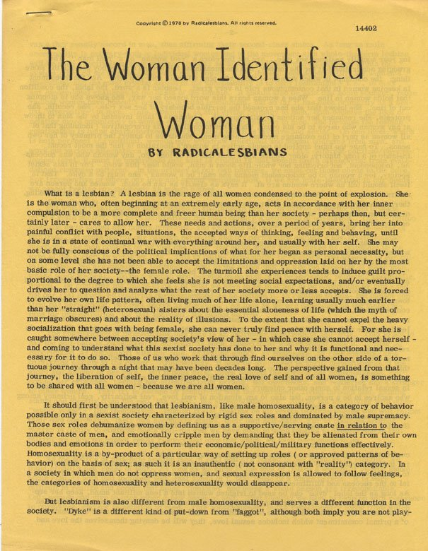 a womans identity essay
