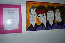 """Texto: """"Amor de Rock"""". Pintura: """"Rolingos"""", ambas autoría de RT."""