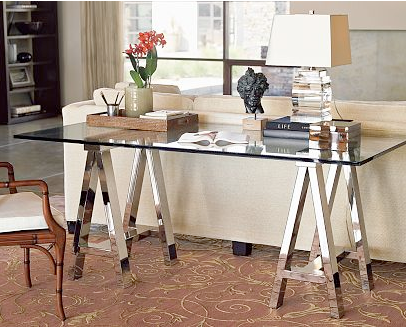 Furniture incarnated mirrored sawhorse desk Sawhorse desk legs