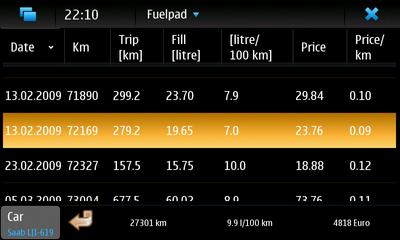 N900 Fuelpad app.JPG