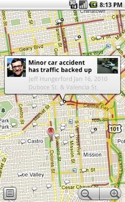 Google buzz layer on maps