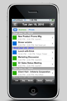 calender app iphone screenshot