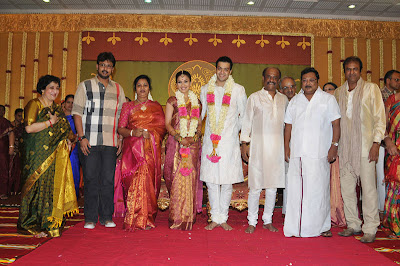 Soundarya rajnikanth reception photos