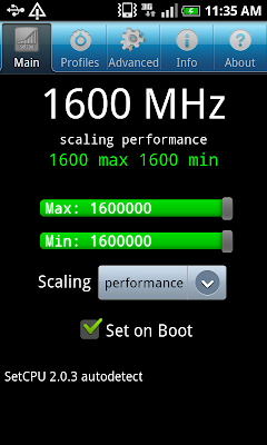 galaxy S overclocked to 1.6 GHz