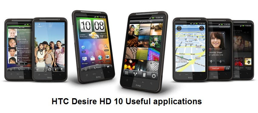 HTC Desire HD: 10 Useful Android Applications ~ Latest