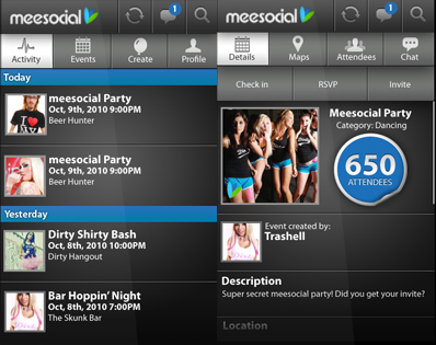 meesocial android app