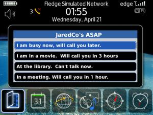 ASAP app for BlackBerry