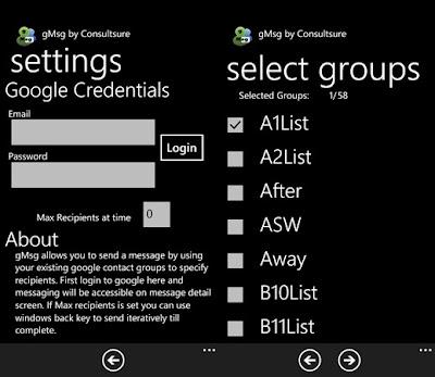 gmsg app for WP7
