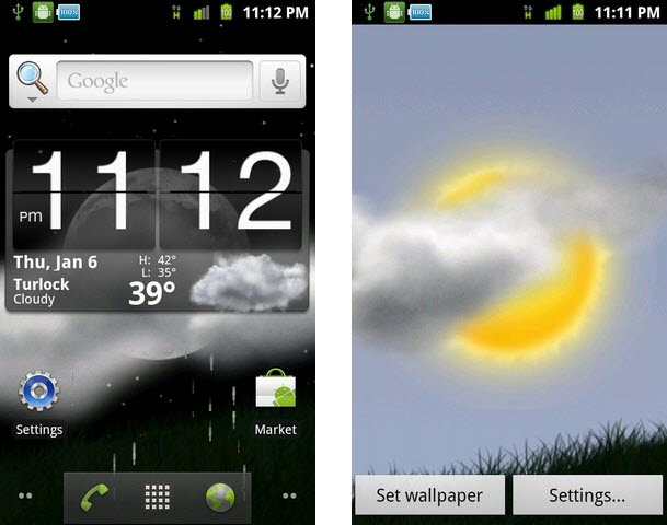 weather window live wallpaper for android phones latest