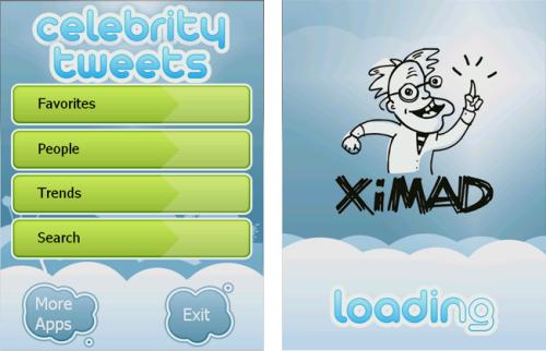 celebrity tweets app for windows mobile