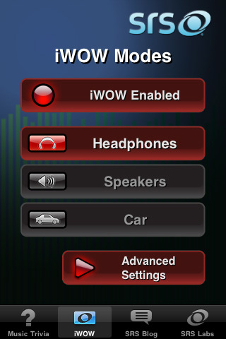 SRS iwow app