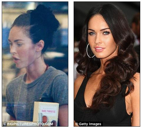 megan fox makeup less. make-up less Fox yesterday
