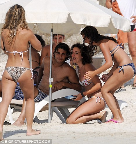 Rafael Nadal Shirtless. Rafael Nadal poses for a