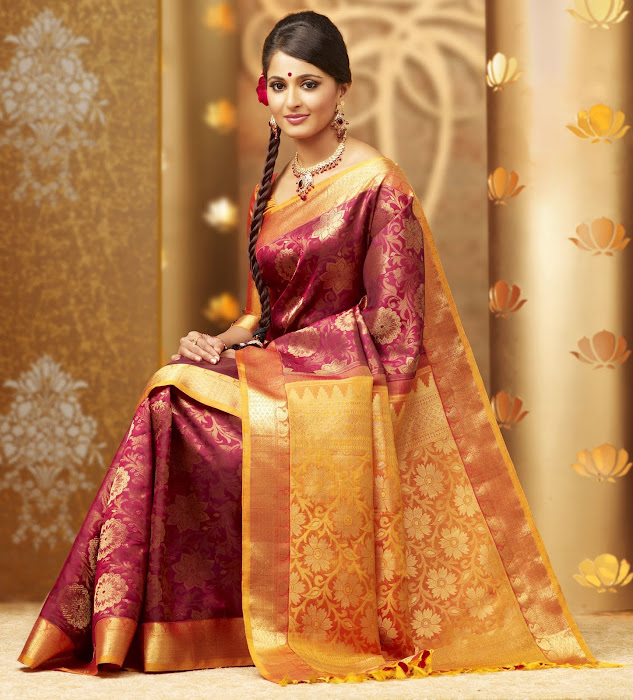 anuska in chennai silks ad photo gallery