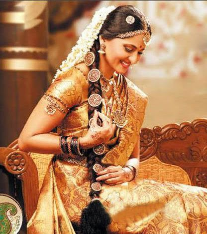 anuska in chennai silks ad hot images