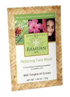 ramuan relaxing face mask A face mask that isnt good for sports
