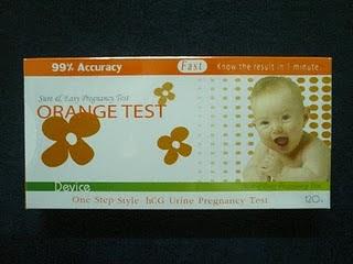 ที่ตรวจครรภ์ - Orange Test แบบหยด