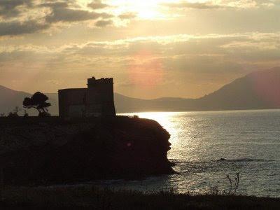 Por do sol Terrasini, Sicilia