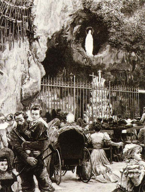 A gruta de Lourdes no século XIX