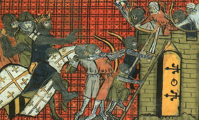 O duque Godofredo de Bouillon dirigie o assédio