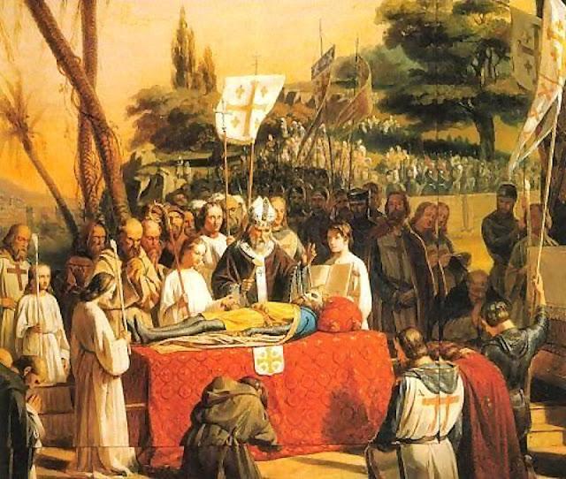 Morte de Godofredo de Bouillon. Sala das Cruzadas, Versalhes.