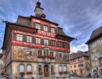 Stein am Rhein, praça da prefeitura
