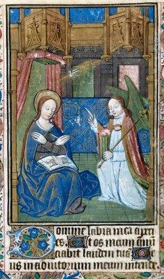 Anunciação, iluminura medieval