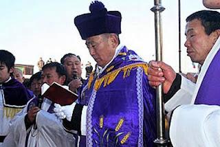 Bispo de Zhengding celebra funeral Pe Joseph Jia desafiando a polícia