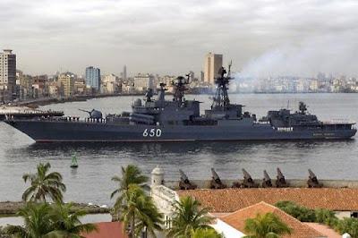 Frota russa volta a Cuba, cruzador 'Almirante Chabanenko' entra em Havana
