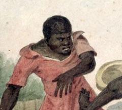O imperador brasileiro e o negro trapalhão