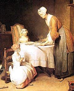 Rezando antes da refeição