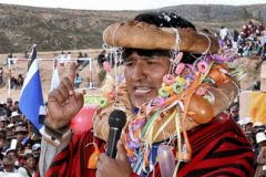 Evo Morales, presidente da Bolvia: