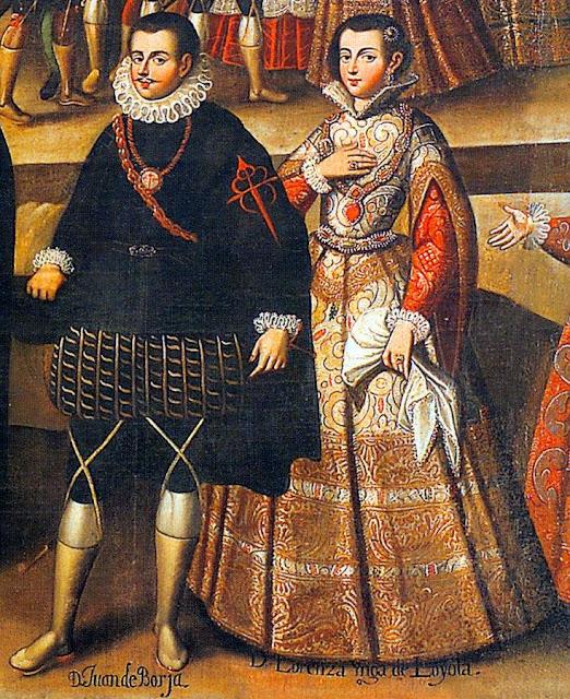 Ana María Lorenza de Loyola Coya e seu esposo,  Juan Enríquez de Borja, marqueses de Oropesa