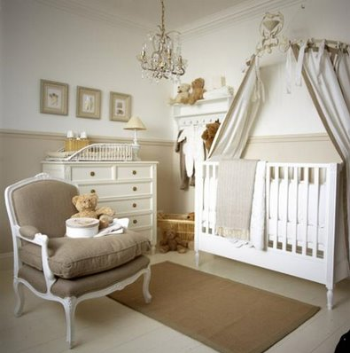 Classic, neutral colors make this nursery a serene gender