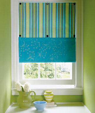 Diy easy window treatments curtain rod ideas design for Simple window treatments for large windows