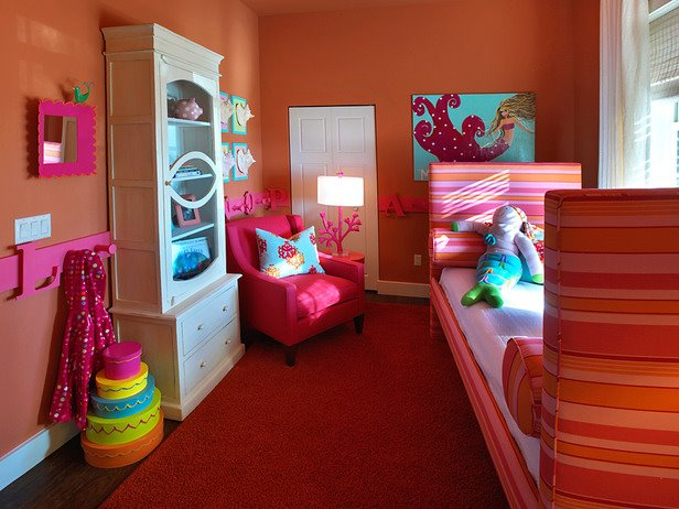 paint ideas for girls bedrooms. citrus-infused girls room