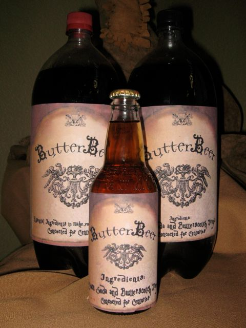 butterbeer label