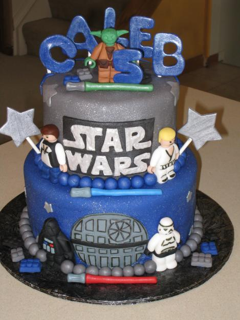 Star Wars cake from here. star wars party ideas