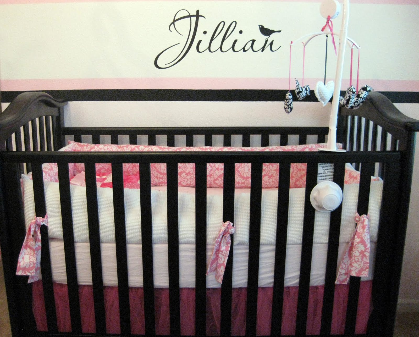 Baby cribs on craigslist - Black Pink White Twin Girl Nursery