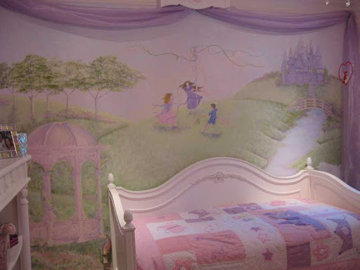 Princess murals design dazzle for Fairy princess mural