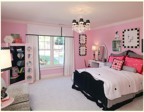 pink black girls rooms design dazzle On girls bedroom ideas pink and black