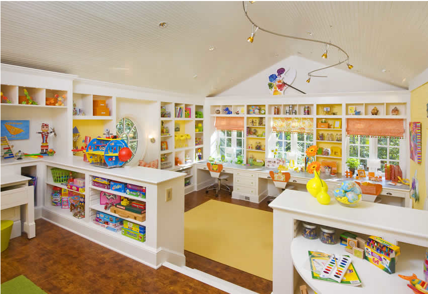 kids' craft & play room - design dazzle