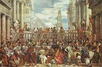 Cuadro renacentista que representa un banquete