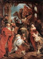 Adoración de los Reyes Magos, pintada por Rubens