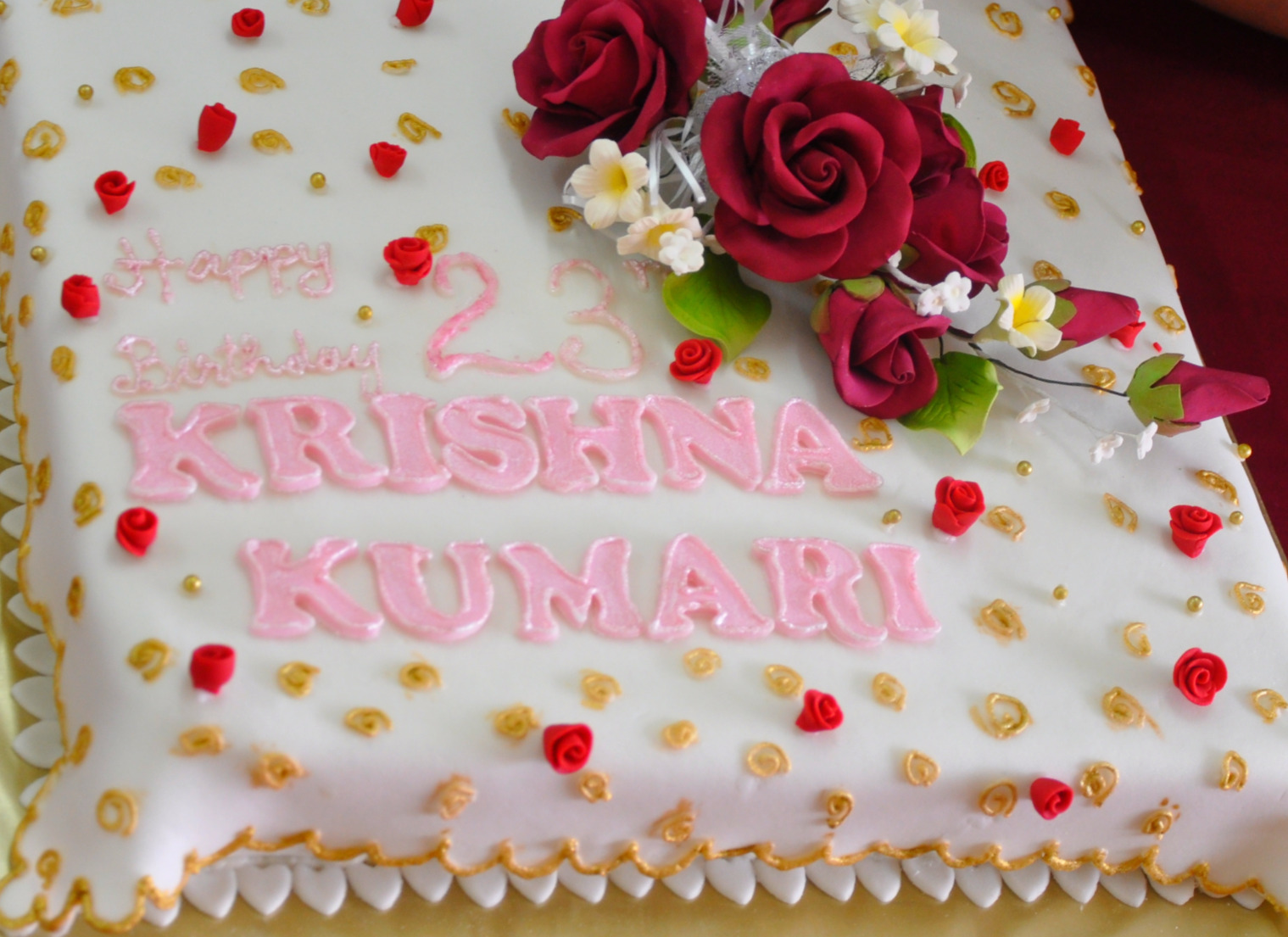 Applemint Cake Shop Ipoh: Cake for Krishna Kumari
