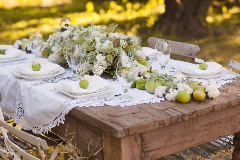 Свадебный стол на природе своими руками меню